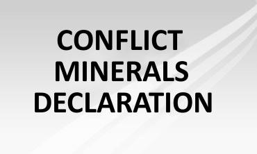 Conflict Minerals Declaration